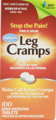 """Leg Cramps with Quinine"" - 100 Sublingual Quick Dissolving Tabs by Hylands $10.99"