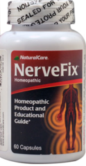 """""""Nerve Fix"""" Homeopathic Pain Relief (60 caps) by NaturalCare $22.99"""