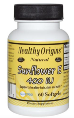 "Vitamin E ""Sunflower E"" 400 IU (60 gels) (Soy Free and Non GMO) by Healthy Origins $15.99"