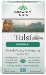 """Tulsi"" Holy Basil Tea Original Caffeine Free Organic (18 Tea Bags) by Organic India $4.99"