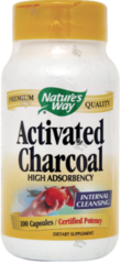 """Charcoal"" Activated 280mg (100 caps) by Nature's Way $8.99"