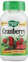 """Cranberry Fruit"" 465mg (100 Capsules) by Nature's Way $12.99 For Urinary Tract Health"