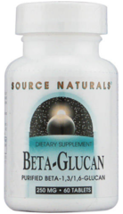 Beta Glucan - Purified Beta-1,3/1,6-Glucan 250 mg (60 Tablets) by Source Naturals $54.25
