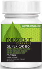 Superior B6 as (P-5-P) 33mg (60 Capsules) by Foodscience of Vermont $9.99