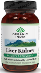 """Liver Kidney"" Detoxify and Rejuvenate (90 Vegetarian Capsules) by Organic India $15.99"