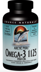 "Enteric Coated Arctic Pure Omega-3 1125mg ""Fish Oil"" (60 gels) by Source Naturals $25.99"