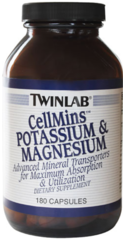 """CellMins"" Potassium and Magnesium (180 Caps) by Twinlab $19.99"