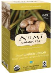 "Organic Decaf Green Tea ""Decaf Ginger Lemon"" (16 Tea Bags) Decaf Green Tea, Ginger, and Lemongrass by Numi $5.99"