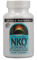 """Krill Oil"" Neptune NKO 500 mg (60 gels) by Source Naturals $32.19"