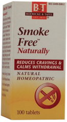 """""""Smoke Free""""™ Naturally- Homeopathic Remedy (100 Sublingual Tabs) by Boericke and Tafel $8.99"""