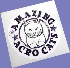 Amazing Acro-Cats Sticker!