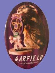 Garfield, The Groundhog. Button/Magnet