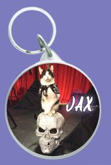 Jax on a Skull Keychain!