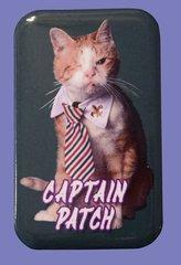 Captain Patch Button Magnet