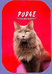 "Pudge, ""The Sweetheart"" Button/Magnet RED version"