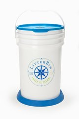 LitterBin (6 1/2 gallon) With Blue Lid and Blue Base