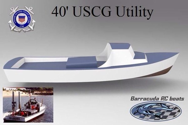 "40"" USCG 40´ UTB MK IV Utility Boat Full Kit"