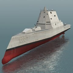 "1:96 75"" DDG-1000 USS Zumwalt Guided Missile Destroyer"