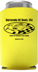 Barracuda RC Boats, USA Koozie (LIMITED EDITION YELLOW)