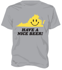 Have A Nice Beer! Smiley Face Shirt