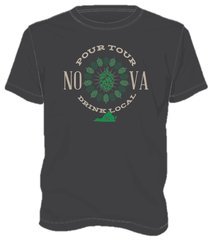 NOVA Pour Tour Brewery Shirt - Charcoal