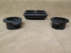 Front and Rear Cupholder Set Hummer H1 2001-2003