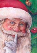 Santa's Whisper Garden Flag