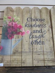 Choose Kindness Plank Wall Decor