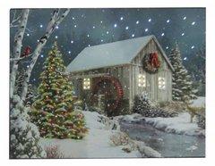 LED Cabin W/Waterwheel Canvas
