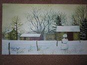 First Snow Canvas