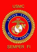 United States Marines Garden Flag