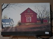 Amish Made Quilts Barn Canvas