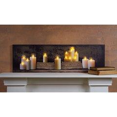 LED Candles Mantel Canvas
