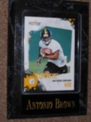 Antonio Brown Sports Plaque