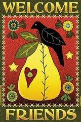 Pear & Crow Welcome Garden Flag