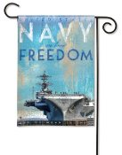 Navy Aircraft Carrier Garden Flag