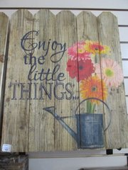 Enjoy The Little Things Plank Wall Decor