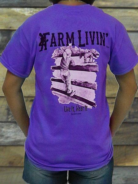 Violet T-shirt/ Farmer Girl Horse Design