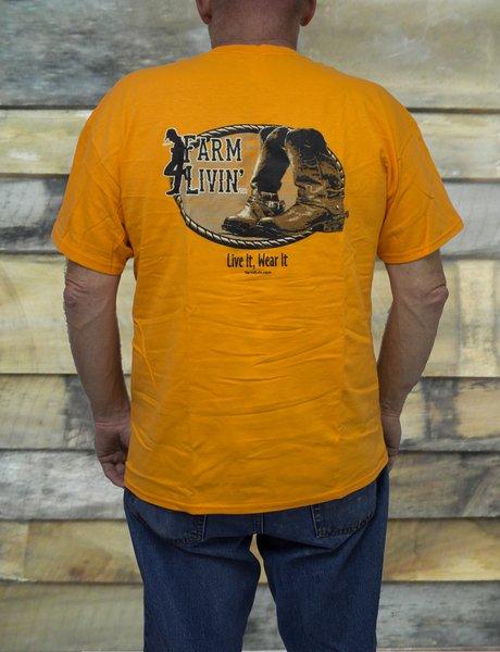 Tennessee Orange Short Sleeve Shirt/ Boot Design