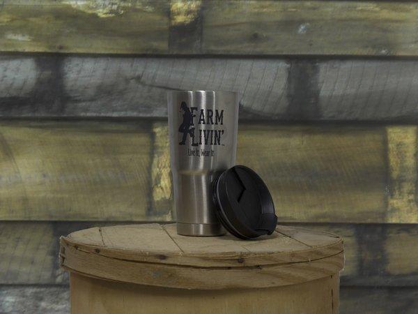 Stainless Steel Mug/ Farm Livin Logo