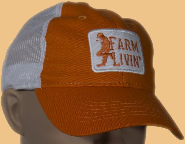Orange/White Mesh Cap