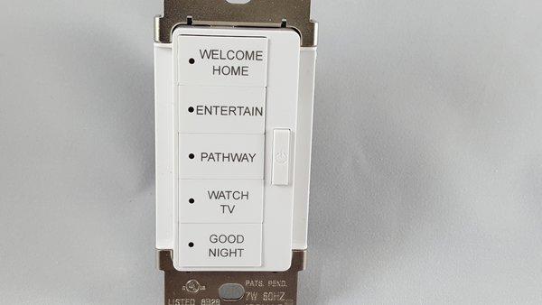 URC Vivido 5 Button Keypad Engraving
