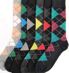 YELETE Dress Socks for Men Articulate Argyle