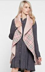 Zuna Sale- Posh Plaid Vegan Fur Reversible Vest