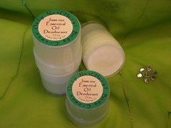 Organic Deodorant Scented with Essential Oils, .75 oz.