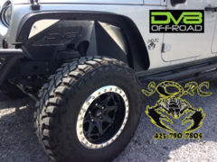 DV8 OFF ROAD Aluminum Raw Front Inner Fender