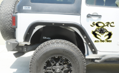 DV8 OFF ROAD Aluminum Black Rear Inner Fender JK & JKU