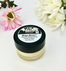 Mega Moist 7 Facial Cream, Sample & Travel Size, with Botanicals of Jasmine, Macadamia Nut, Squalene & Golden Jojoba. Fabulous for Dry Skin, Natural and surprisingly acne prone skin. Organic Beauty Facial Cream.