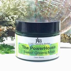 PowerHouse Sweet Greens Mask, Organic Green Mask, Cleansing Mask, Exfoliating Mask, with Organic Honey, Spirulina & Chlorella
