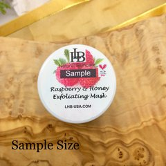 Sample Size - Raspberry & Honey Exfoliating & Cleansing Mask, with Vitamin C, and micro Jojoba Oil particles. Gentle and Exfoliating Mask.